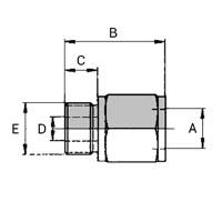 Raccord Femelle Weo Plug-In - Mâle BSPP Cylindrique Forme B