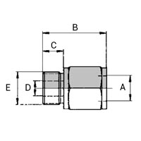 Raccord Femelle Weo Plug-In - Mâle Métrique (ISO 6149-3)