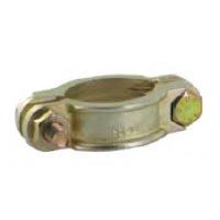 Collier de serrage plat 2 boulons - norme DIN 20039 - Acier