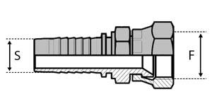 Embouts JIC DSP - Double 6 pans - cône 74°