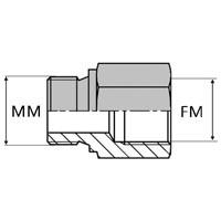 Adaptateur droit mâle ISO joint cuivre x femelle ISO