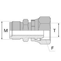 Adaptateur droit mâle Agricole 18x1,5 x femelle 24°