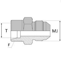Adaptateur droit mâle 24° x mâle JIC